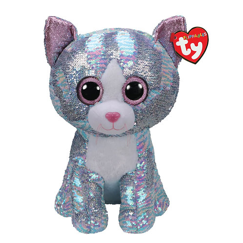 TY SEQUIN BLUE CAT 40CM - WHIMSY (36762)