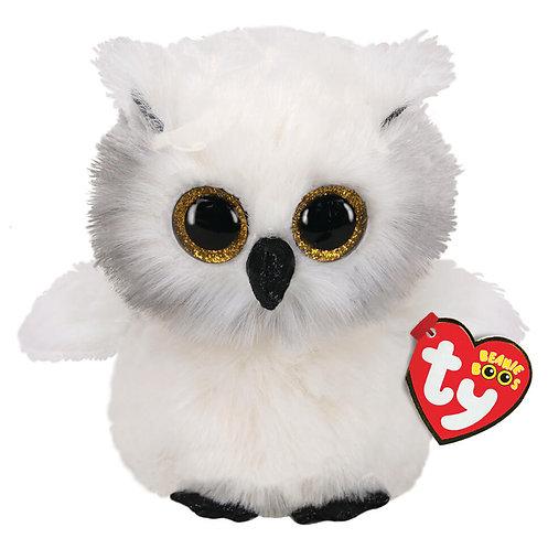 TY SNOWY OWL WHITE PLUSH 15CM