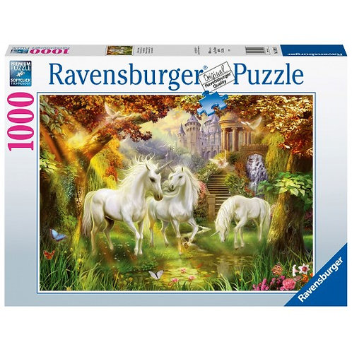 RAVENSBURGER 1000 PCS PUZZLE UNICORNS IN THE FOREST