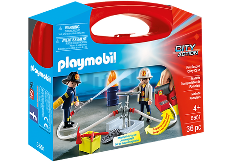 PLAYMOBIL 5651 CITY ACTION - Fire Rescue Carry Case