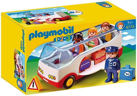 PLAYMOBIL 6773 1.2.3 - Airport Shuttle Bus