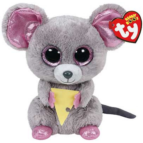 TY SQUEAKER MOUSE WITH CHEESE PLUSH 15CM