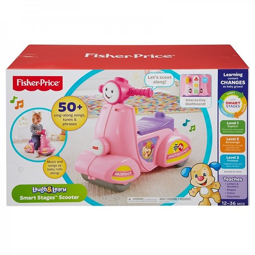 FISHER PRICE LAUGH N LEARN SCOOTER - GREEK
