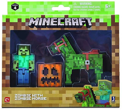 MINECRAFT ZOMBIE WITH ZOMBIE HORSE PACK