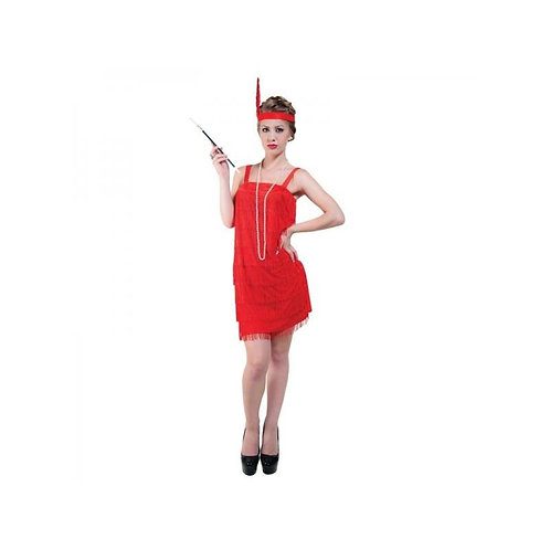 ADULT CARNIVAL COSTUME CHARLESTON RED (ONE SIZE)