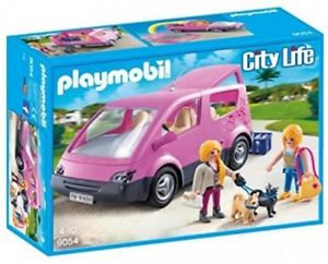 PLAYMOBIL 9054 CITY LIFE - Van and Two Figurines