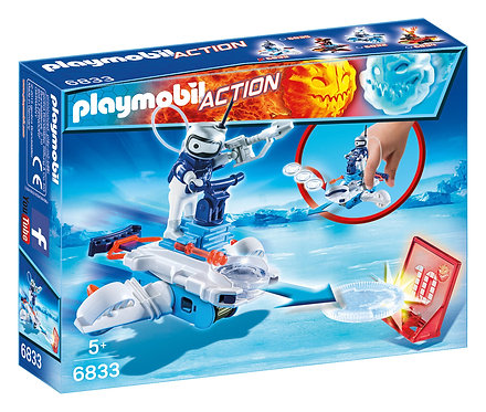 PLAYMOBIL 6833 ACTION - Ice Android with Spacecraft