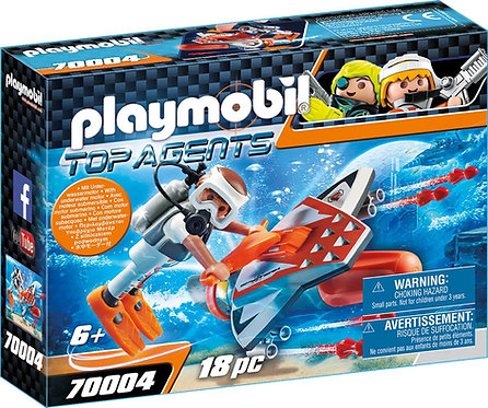 PLAYMOBIL 70004 TOP AGENTS - Spy Team Underwater Wing