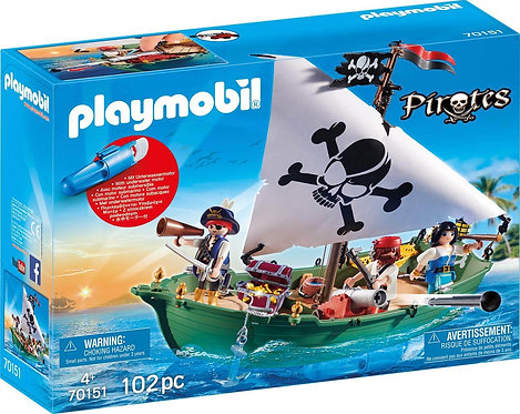 PLAYMOBIL 70151 PIRATE - Pirate Ship with Underwater Motor