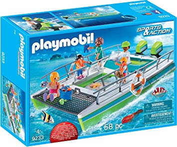 PLAYMOBIL 9233 SPORTS & ACTION - Glass-Bottom Boat With Underwater Motor