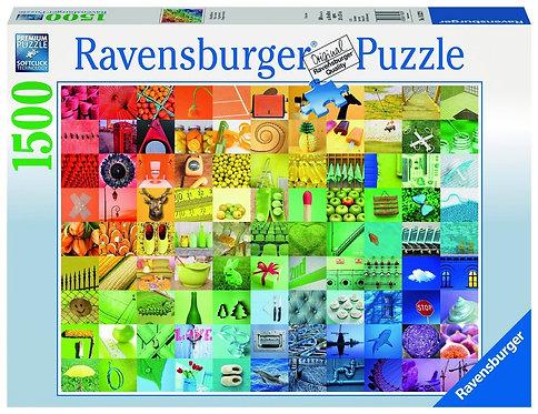PUZZLE 1500PCS 99 COLOURS