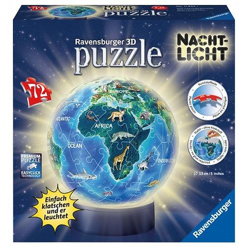 3D PUZZLE NIGHT LIGHT 72 PCS GLOBE