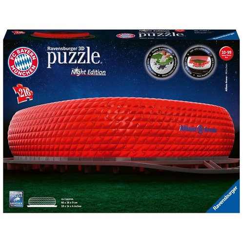 RAVENSBURGER 3D PUZZLE NIGHT EDITION 216 PCS ALLIANZ ARENA (12530)