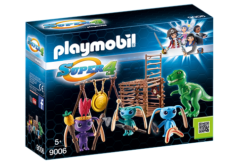 PLAYMOBIL 9006 SUPER 4 - Alien Warrior with T-Rex Trap