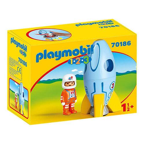 PLAYMOBIL 70186 1.2.3 - Astronaut with Rocket