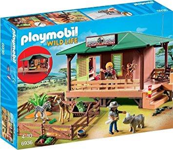 PLAYMOBIL 6936 WILD LIFE - Ranger Station with Animal Area