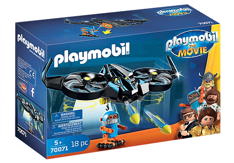 PLAYMOBIL 70071 THE MOVIE - Robotitron with Drone