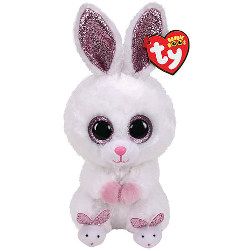 TY RABBIT WITH SLIPPERS PLUSH 15CM