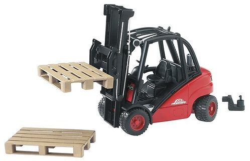 BRUDER 02511 LINDE FORK LIFT WITH PALLET