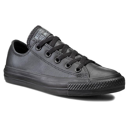 CONVERSE CHUCK TAYLOR ALL STAR OX - LEATHER BLACK