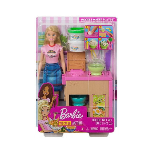 BARBIE NOODLE MAKER DOLL AND PLAYSET (GHK43)