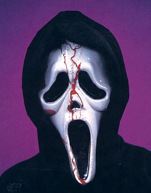 SCREAM MASK WITH BLOOD HEADER