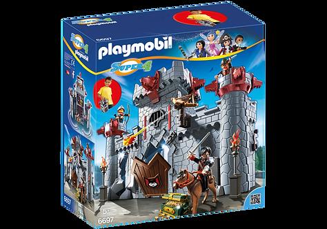 PLAYMOBIL 6697 SUPER 4 - Take Along Black Baron's Castle