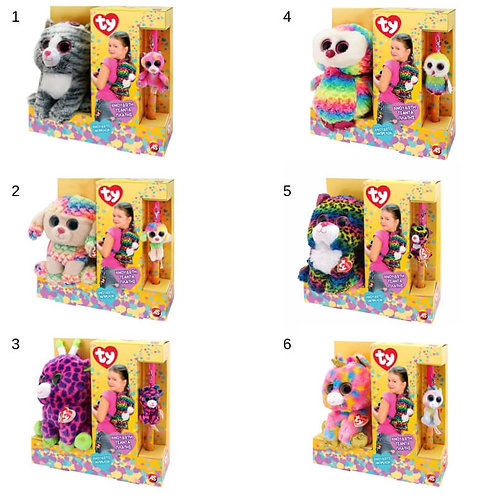 EASTER CANDLE TY BACKPACK AND PLUSH CLIP