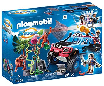 PLAYMOBIL 9407 SUPER 4 - Monster Truck with Alex and Rock Brock