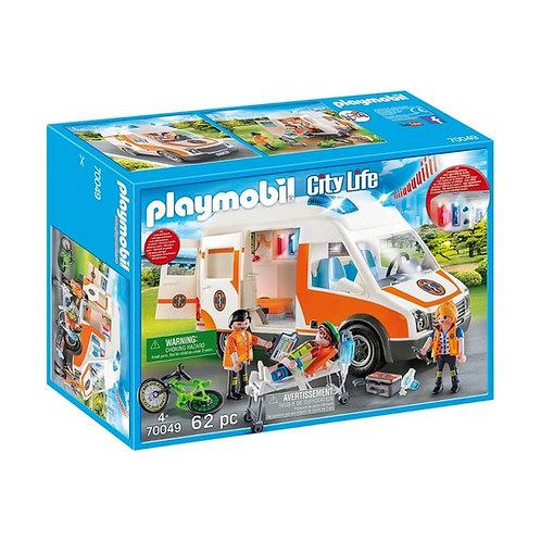 PLAYMOBIL 70049 CITY LIFE - Ambulance with Flashing Lights