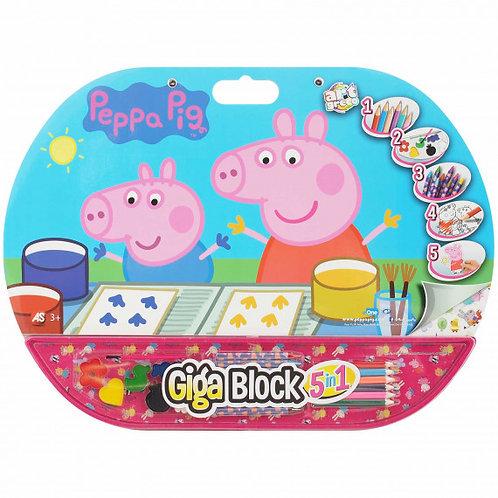 PEPPA DRAWING GIGA BLOCK 5 IN 1