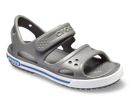 CROCS CROCBAND II SANDAL PS KIDS - SLATE GREY / BLUE JEAN