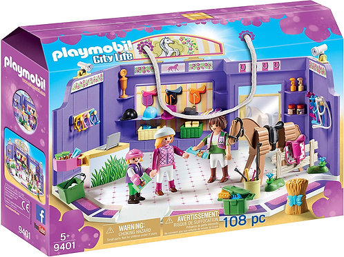PLAYMOBIL 9401 CITY LIFE - Horse Tack Shop with Wooden Horse