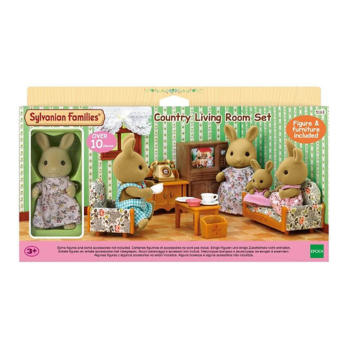 SYLVANIAN FAMILIES COUNTRY LIVING ROOM SET (WITH RABBIT MOTHER) (5163)