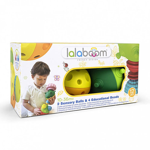 LALABOOM 2 SENSORY BALLS WITH 8PCS BEADS (1000-86151)