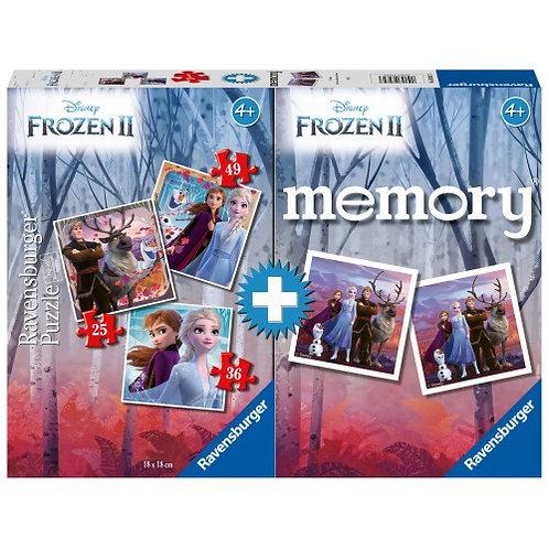 RAVENSBURGER MEMORY® + 3 PUZZLES FROZEN II