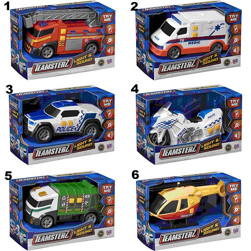 TEAMSTERZ VEHICLES WITH LIGHT & SOUNDS