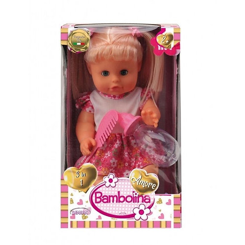 BAMBOLINA AMORE DOLL WITH HAIR 30CM PIPI POPO (BD1813)