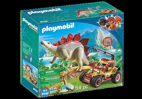 PLAYMOBIL 9432 THE EXPLORERS - Explorer Vehicle With Stegosaurus
