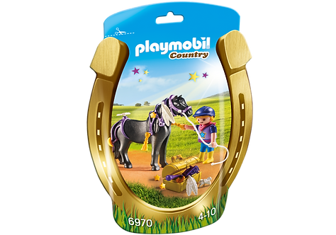 PLAYMOBIL 6970 COUNTRY - Groomer with Star Pony