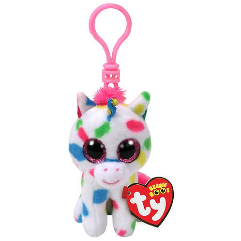 TY SPECKLE UNICORN CLIP PLUSH 8.5CM
