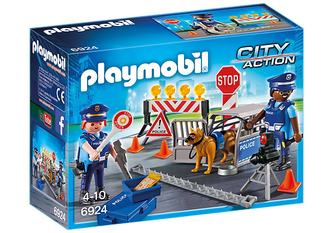 PLAYMOBIL 6924 CITY ACTION - Police Roadblock