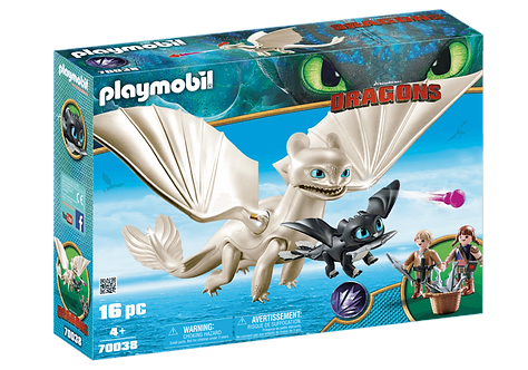 PLAYMOBIL 70038 DRAGONS - Light Fury with Baby Dragon and Children