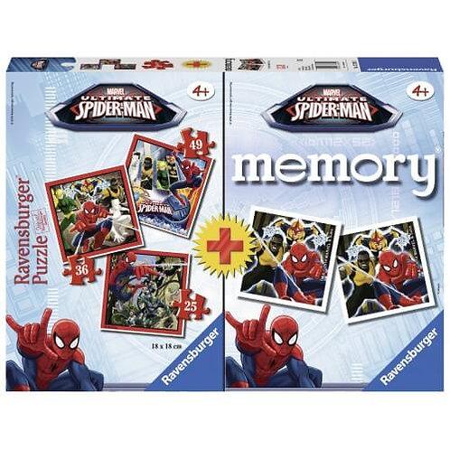RAVENSBURGER MEMORY® + 3 PUZZLES SPIDERMAN