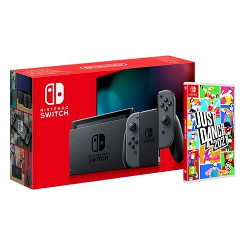 NINTENDO SWITCH CONSOLE (GREY J/C) + JUST DANCE 2021