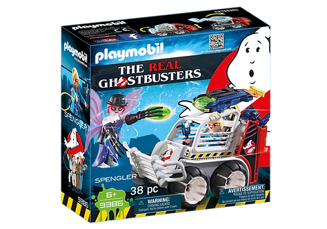 PLAYMOBIL 9386 GHOSTBUSTERS - Spengler with Cage Car