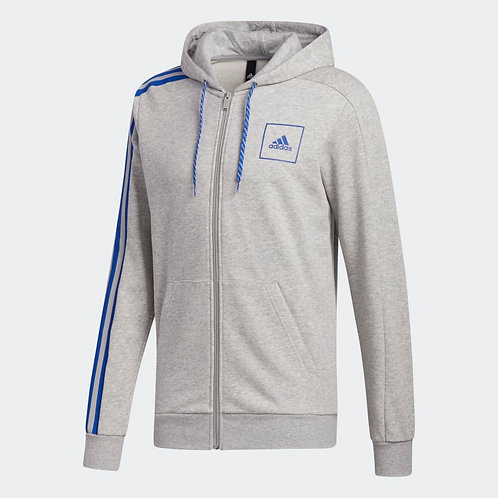ADIDAS 3-STRIPES TAPE FULL-ZIP HOODIE (FS4319)