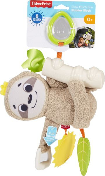 FISHER-PRICE SLOW MUCH FUN STROLLER SLOTH (FXC31)
