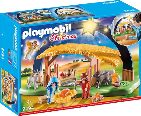 PLAYMOBIL 9494 CHRISTMAS - Illuminating Nativity Manger
