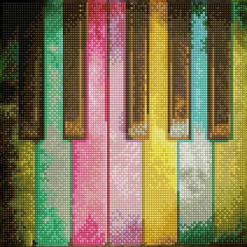 DIAMOND DOTZ PIANO RAINBOW